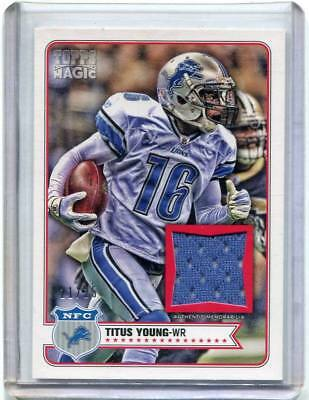 2012 Topps Magic - TITUS YOUNG - Game Used Jersey - LIONS #d 21/25 image
