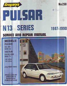 NISSAN PULSAR N13  WORKSHOP MANUAL 1987 to 1990 1.6 1.8litre Sefton Bankstown Area Preview