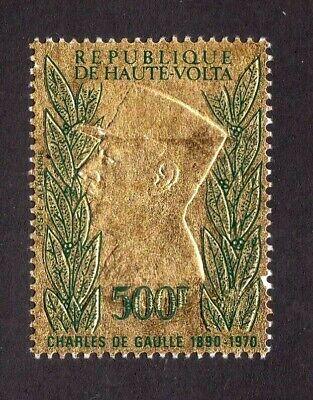 Burkina Faso stamp #C96, MHOG, Charles De Gaulle, SCV $12.00