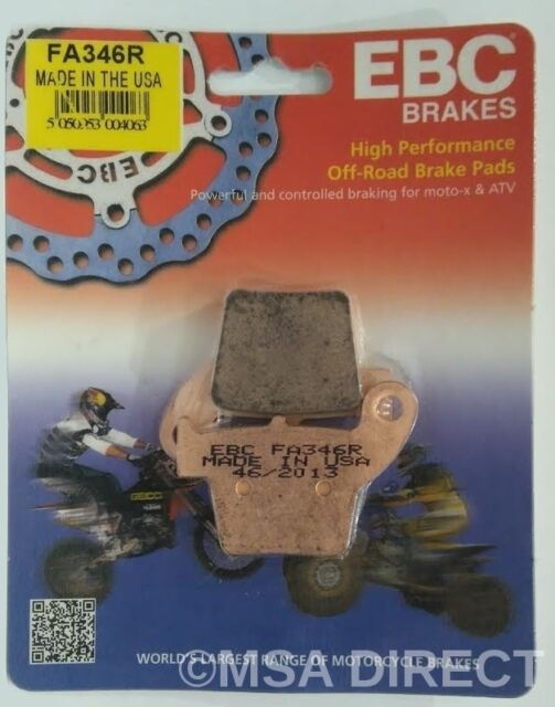 "Honda CRF250 (2004 to 2017) EBC ""R"" Sintered REAR Brake Pads (FA346R) (1 Set)"
