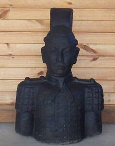 NEW - Solid Concrete Warrior Garden Statue Black Brightview Somerset Area Preview