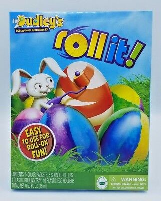 Dudley's Roll It Easter Egg Decorating Kit Easy to Use - Brand New](Halloween Easy Decorations Make)