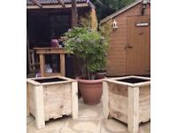 Reclaimed Wood Handmade Garden Planters