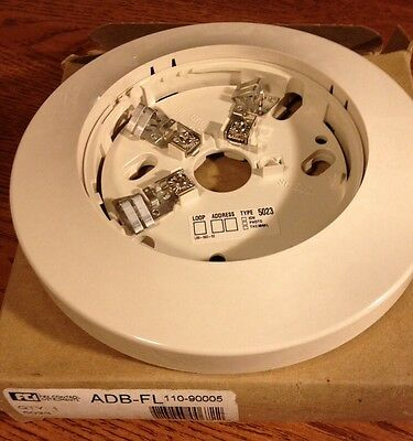 Fci Gamewell Honeywell Adb-fl Fire Alarm Smoke Detector Base