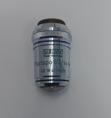 Zeiss Microscope Planapo 63x 1.4 Oil Phase 3 160mm Objective Lens