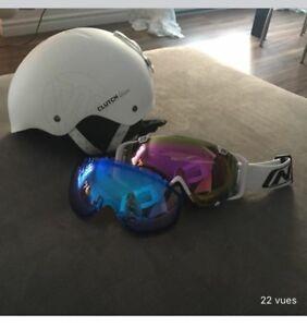 Casque et lunette de ski