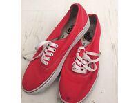 Size 7.5 red vans