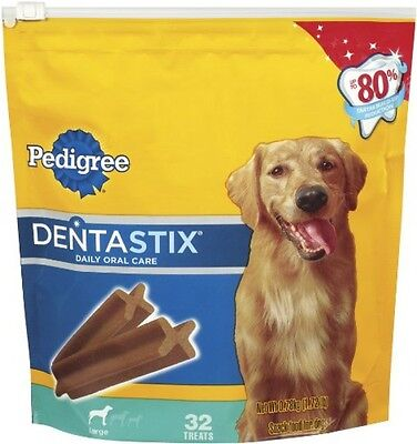 Dentastix Oral Care Treats for Dogs, Large, 1.72 lbs, 32 Count, Teeth Cleaning