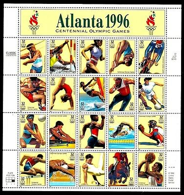 1996 - ATLANTA OLYMPIC GAMES - #3068 Mint -MNH- Sheet of 20 Postage Stamps