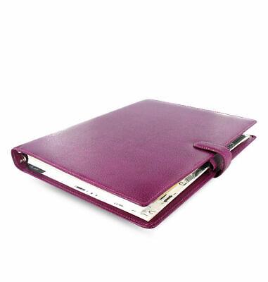 Filofax - A4 Finsbury Raspberry - Full Grain Leather Organiser - Free Pp