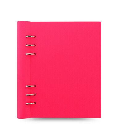 Filofax Clipbook Saffiano Fluoro A5 Notebook Pink- 145003