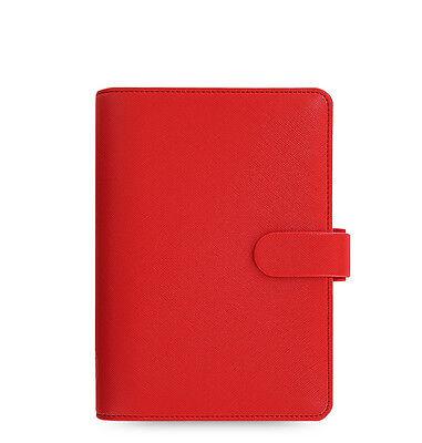 The Filofax Personal Size Saffiano Organizer Poppy Red - 022473