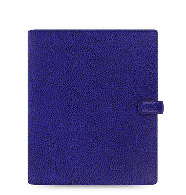 Filofax A5 Finsbury Leather Organizer Electric Blue Leather- 022500