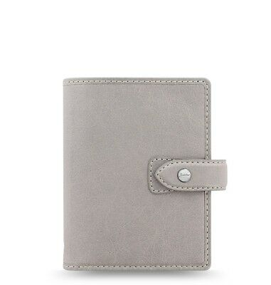 Filofax Pocket Size Malden Organizer- Stone Color Leather 025812 New Item