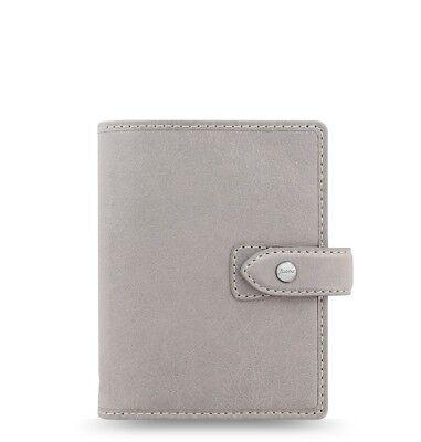 Filofax Pocket Size Malden Organizer- Stone Color Leather 025812 New Item