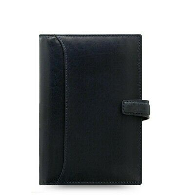 Filofax Lockwood Personal Leather Organizer Calendar Agenda Navy 026057