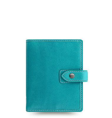Filofax Pocket Size Malden Organizer- Kingfisher Blue Leather - New - 026065