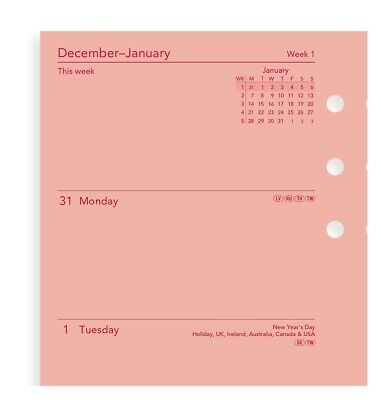 Filofax Personal 2020 Pink Week On Two Pages Diary Refill Planner 20-68478 News