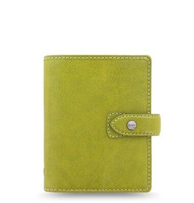 Filofax Pocket Size Malden Organizer- Pear Color Leather 025805 New Item