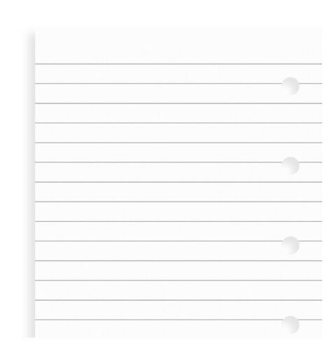 FILOFAX Mini White Ruled Notepaper