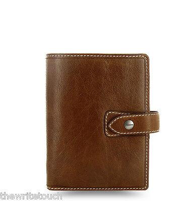 Filofax Pocket Size Malden Organizer- Ochre Leather - 025842