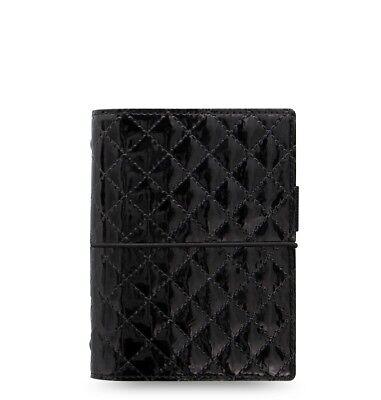 Filofax Domino Luxe Pocket Organizer Black - 027996 - brand new -