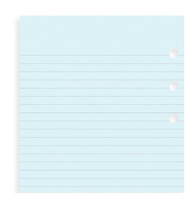 Filofax Personal Size Blue Ruled Notepaper- 30 Sheets - 133001