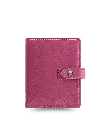 Filofax Pocket Size Malden Organizer- Fuchsia Color Leather -026066