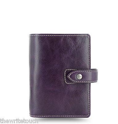 Filofax Pocket Size Malden Organizer- Purple Leather - New - 025849 - 2017