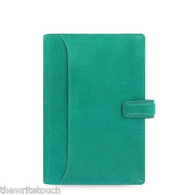 Filofax Lockwood Personal Leather Organizer Calendar Agenda Aqua 021686