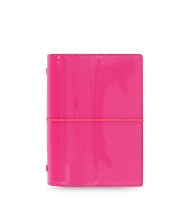 Filofax Domino Organizer Patent Pink- Pocket - 022480
