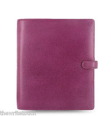 Filofax A5 Finsbury Leather Organizer Raspberry Leather- 025371
