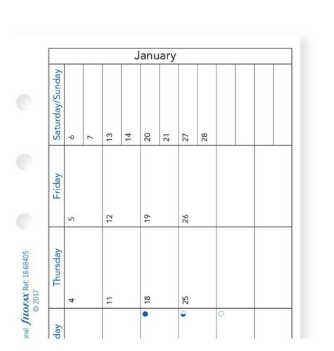 2021 FILOFAX Personal Month on one Page with notes Diary/Calendar - 21-68405