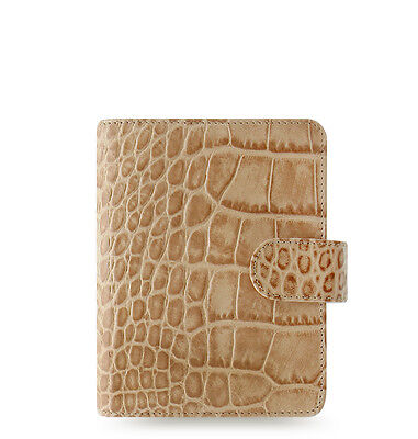 Filofax Classic Croc Pocket Size Organizerplanner Taupefawn Leather - 026010