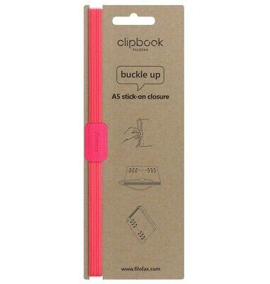 Filofax Clipbook Saffiano Fluoro A5 Elastic Closure Pink - 149200