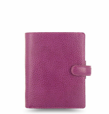 Filofax - Pocket Finsbury Raspberry - Textured Full Grain Leather Organiser