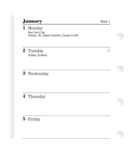 2021 FILOFAX Mini Week on One Page Diary/Calendar - 68126