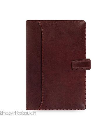Filofax Lockwood Personal Leather Organizer Calendar Agenda Garnet C021697