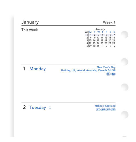 2020 FILOFAX Pocket Week on Two Pages Diary/Calendar  20-68221
