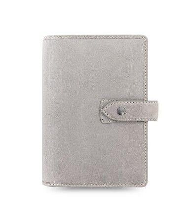 Filofax Personal Size Malden Organizer- Stone Color Leather 025811 New Item