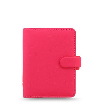 Filofax Saffiano Fluoro Pocket Organizer Pink 2018 - 028752