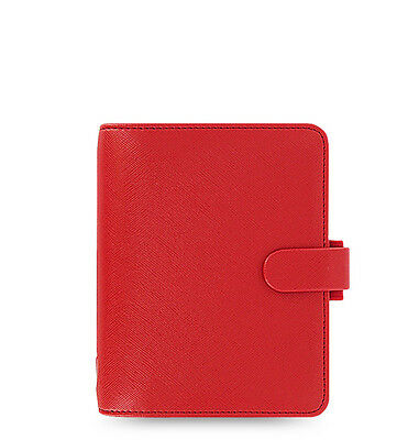 Filofax Pocket Size Saffiano Organizer Poppy Red - 022471