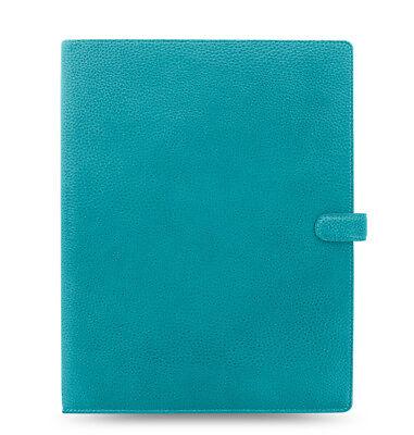 Filofax - A4 Finsbury Aqua- Thick Genuine Leather Organiser