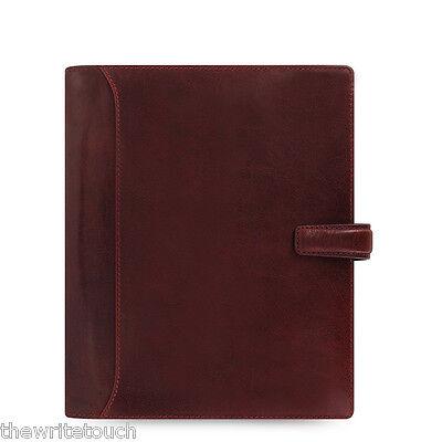 Filofax Lockwood A5 Leather Organizer Calendar Agenda Garnet Red C021689