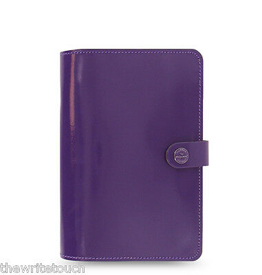 The Filofax Original Organizer Personal Purple Leather - Any Year Diary