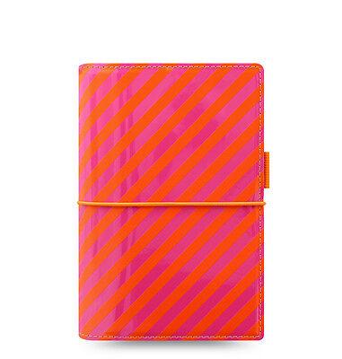 Filofax Domino Organizer Patent Orange Pink Personal - 022575