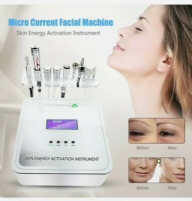 8In1 RF Hydro Oxygen Jet Spray Microcurrent Facial Rejuvenation Machine