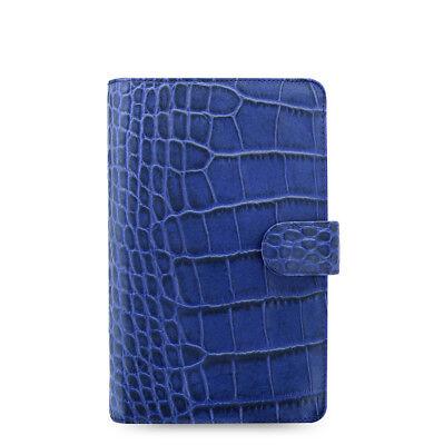 Filofax Classic Croc Compact Size Organizerplanner Indigo Leather 026007