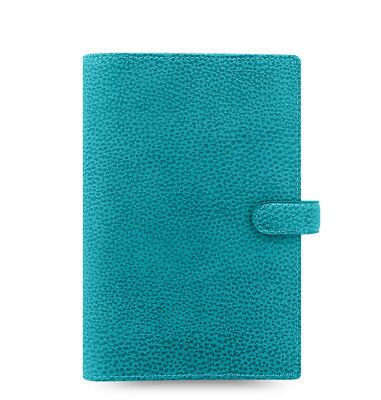 - Filofax Personal Size Finsbury Leather Organizer Aqua Leather- 025444