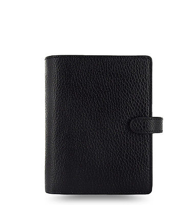Filofax Pocket Finsbury Leather Organizer Black - 025360